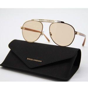 New Dolce&Gabbana DG2235 02/93 Gold Sunglasses
